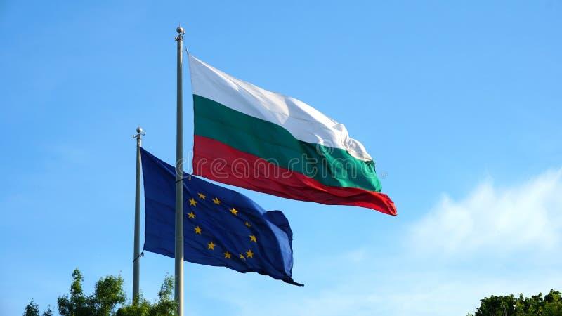 Europa i Bu?garska flaga obraz royalty free