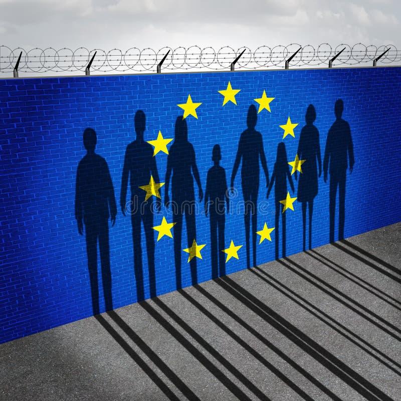 Europa imigracja royalty ilustracja