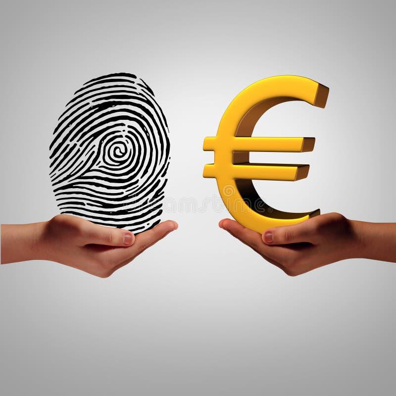 Europa informationsmarknad stock illustrationer