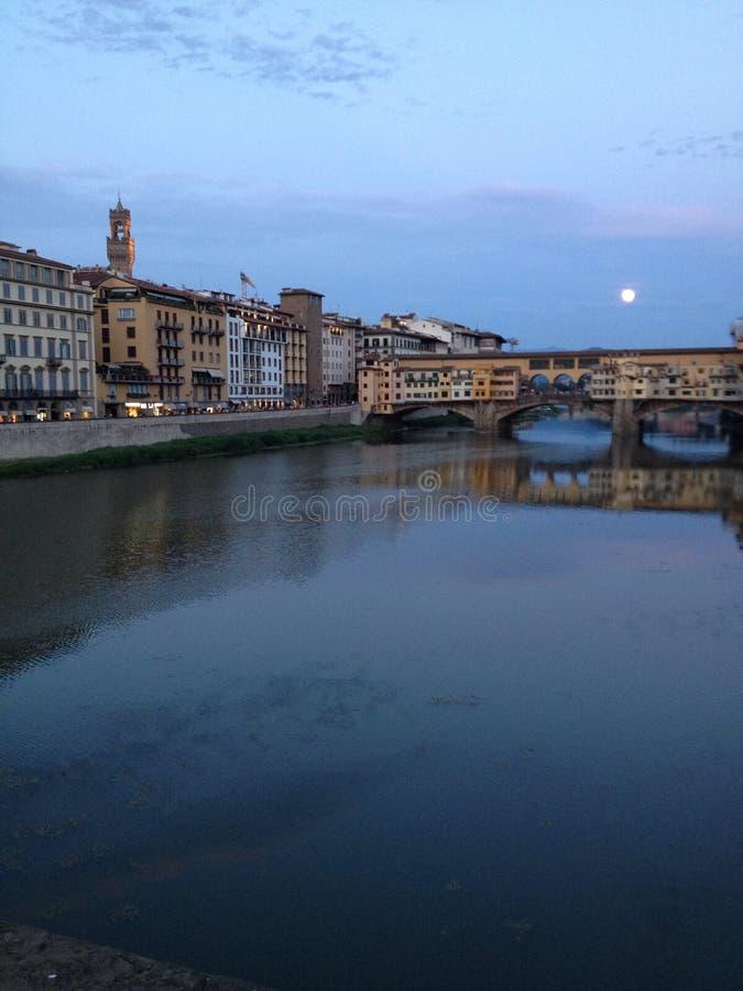 Europa Italien, Tuscany, Florence, Pont Vecchio arkivbilder