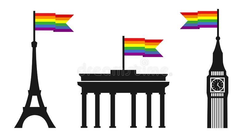 Europa jest podporowym homoseksualnym homoseksualista i lezbijka orientacj? seksualn? ilustracji