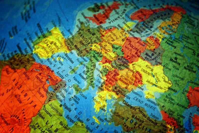 Europa-Karte mit Namen stockfotografie