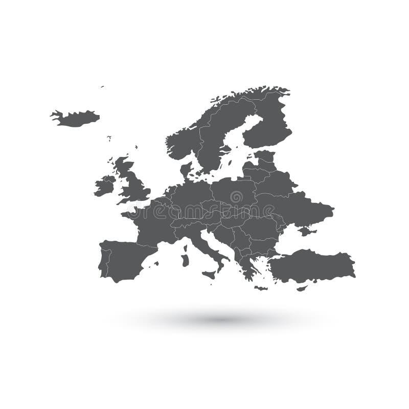 Europa-Kartenvektorillustration vektor abbildung