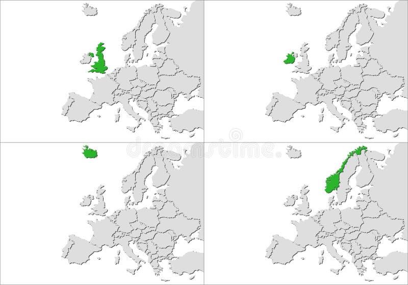 Europa kraje royalty ilustracja