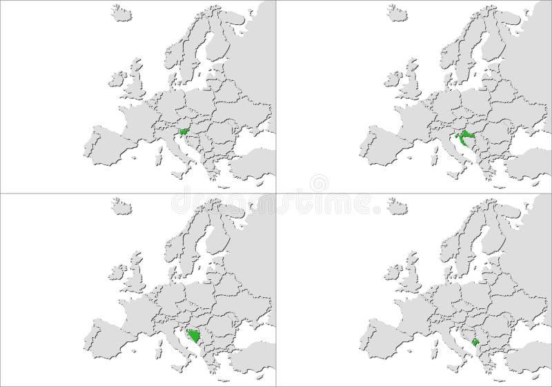 Europa kraje ilustracji