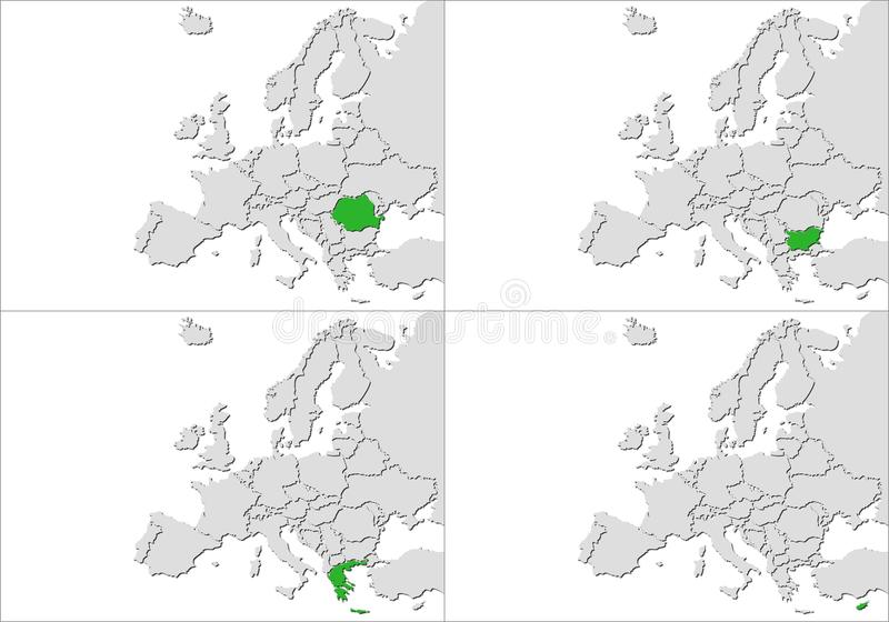 Europa kraje ilustracja wektor