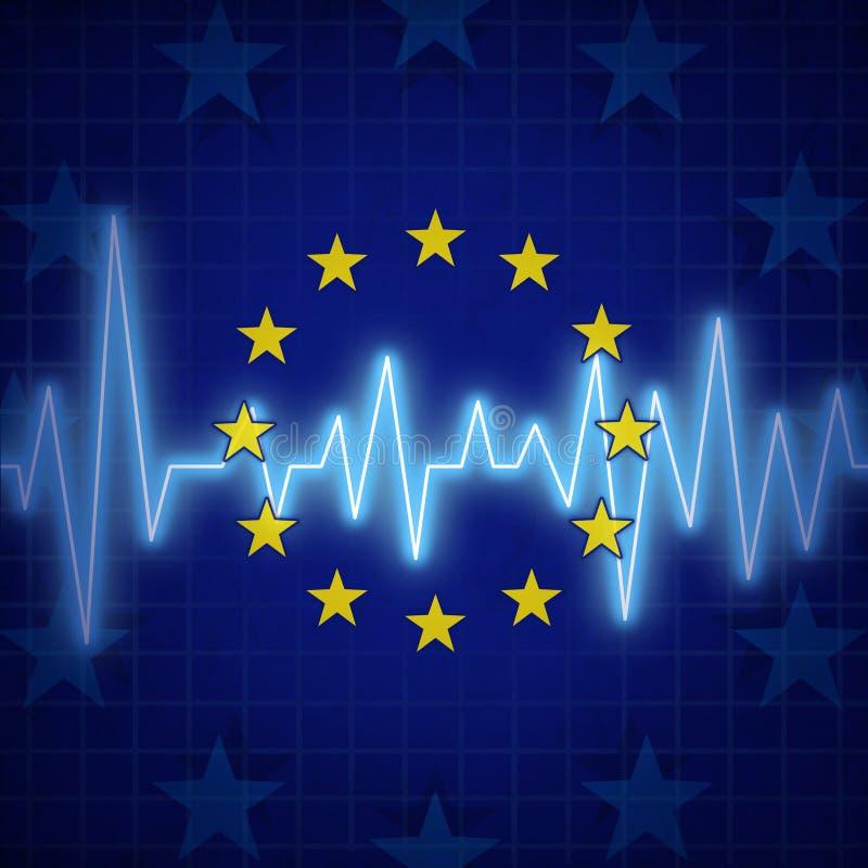 Europa kris stock illustrationer