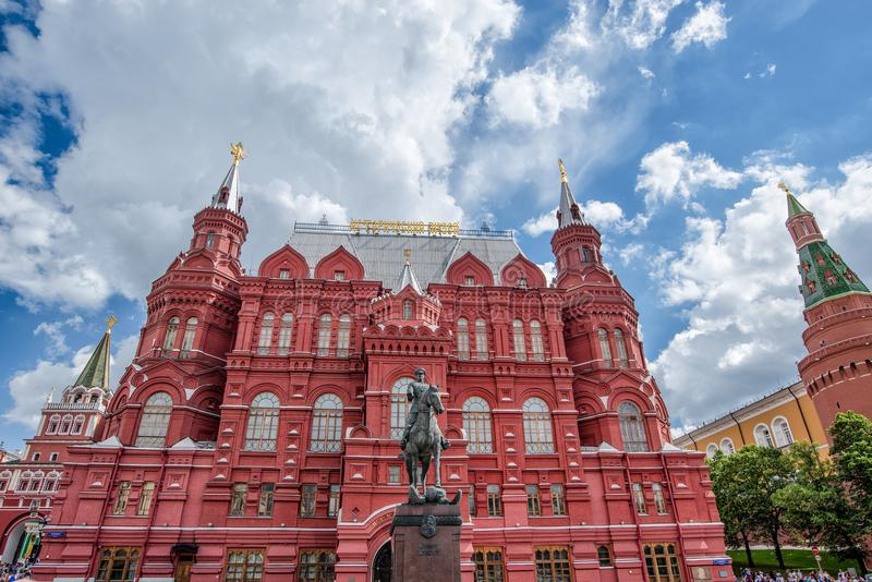 europa La Russia Mosca giugno 2017 Il museo storico dello stato a Mosca sul quadrato rosso immagini stock libere da diritti