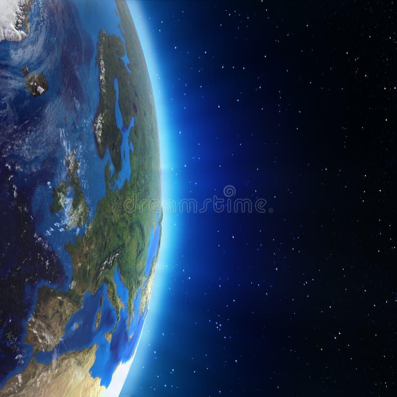 Europa-Landschaft vom Raum lizenzfreie abbildung