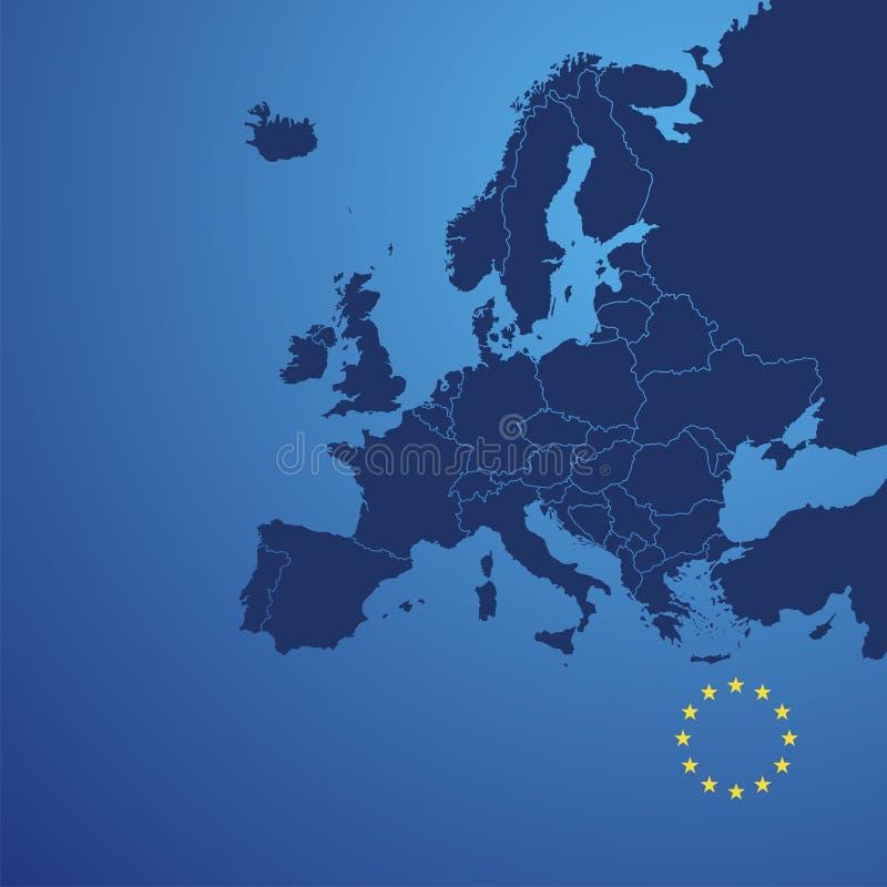 Europa mapy pokrywy wektor ilustracji