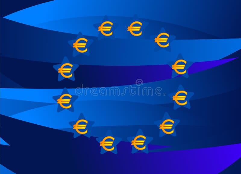 Europa-Markierungsfahne vom Europa-Geld lizenzfreie abbildung