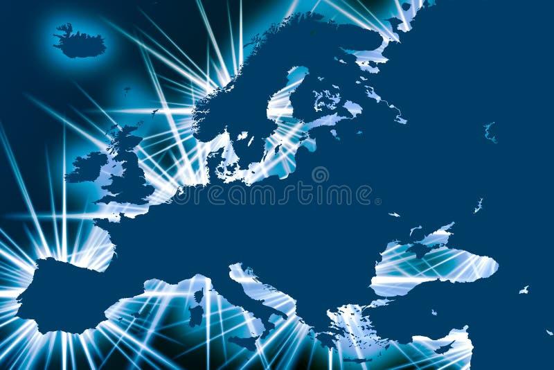 Europa mit Spitzen lizenzfreie abbildung
