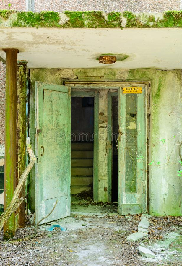 Europa Oriental, Ucrania, Pripyat, Chernóbil Apartamentos abandonados Pripyat 27 de abril de 2019 imagen de archivo