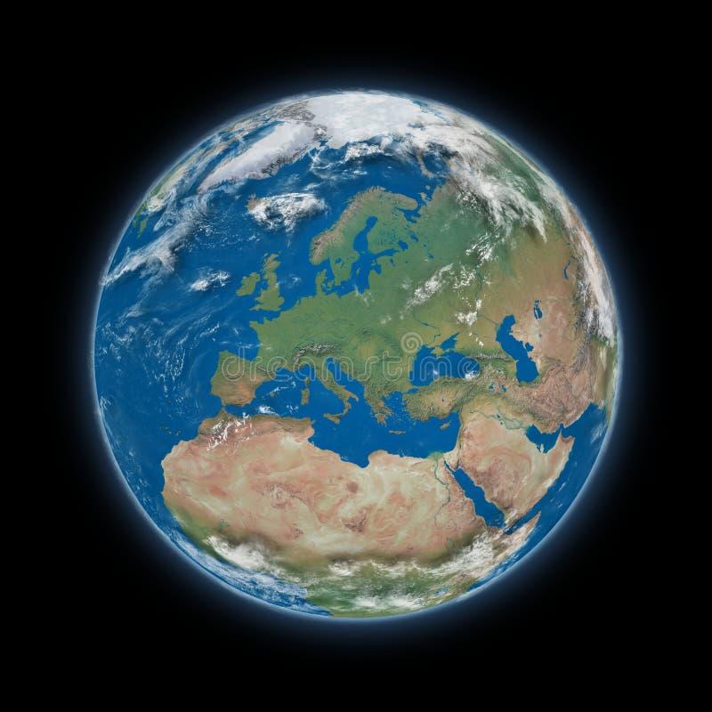 Europa på planetjord vektor illustrationer