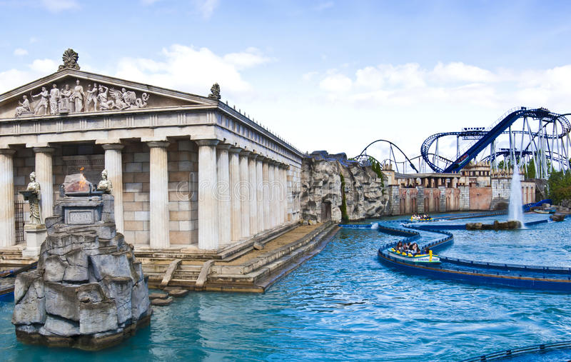 Europa Park, Germany - Greek themed area stock image