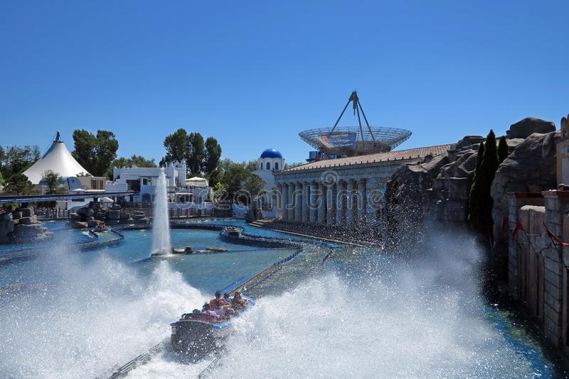 Europa Park. In Germany. View over the Greek themed area stock photos