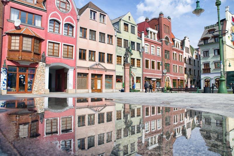 Europa plaats in stad Komarno, Slowakije stock fotografie