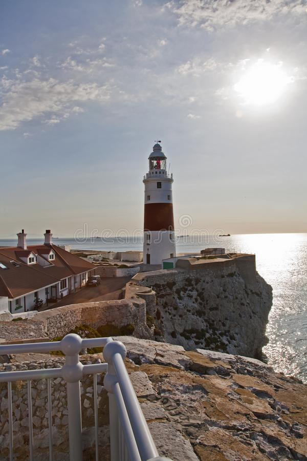 Europa point or trinity lighthouse royalty free stock image
