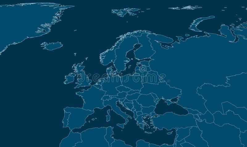 Europa Polityczna mapa ilustracja wektor