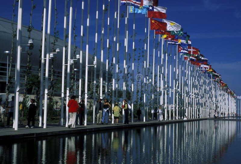 EUROPA PORTUGAL LISSABON EXPO PARQUE DAS NACOES stock foto's