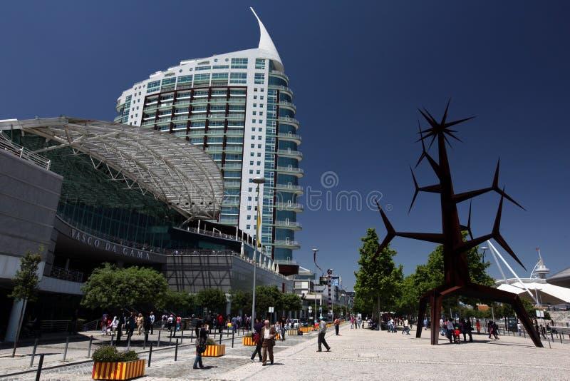 EUROPA PORTUGAL LISSABON EXPO PARQUE DAS NACOES royaltyfri foto
