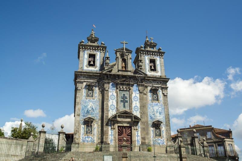 EUROPA PORTUGALIA PORTO IGREJA DE SANTA CLARA kościół zdjęcia royalty free
