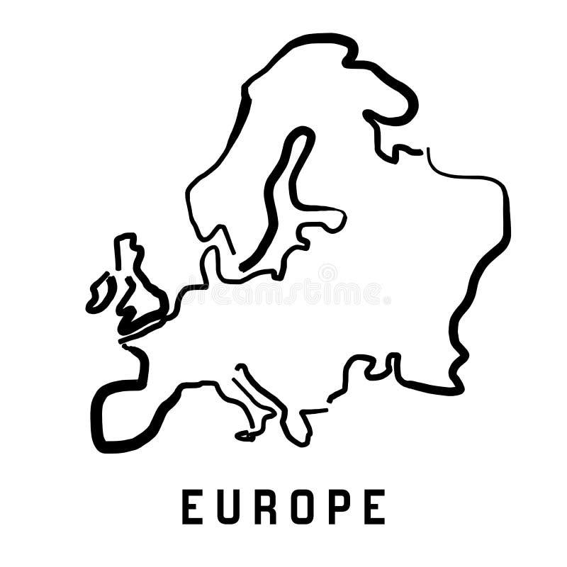 Europa prosty kontur royalty ilustracja