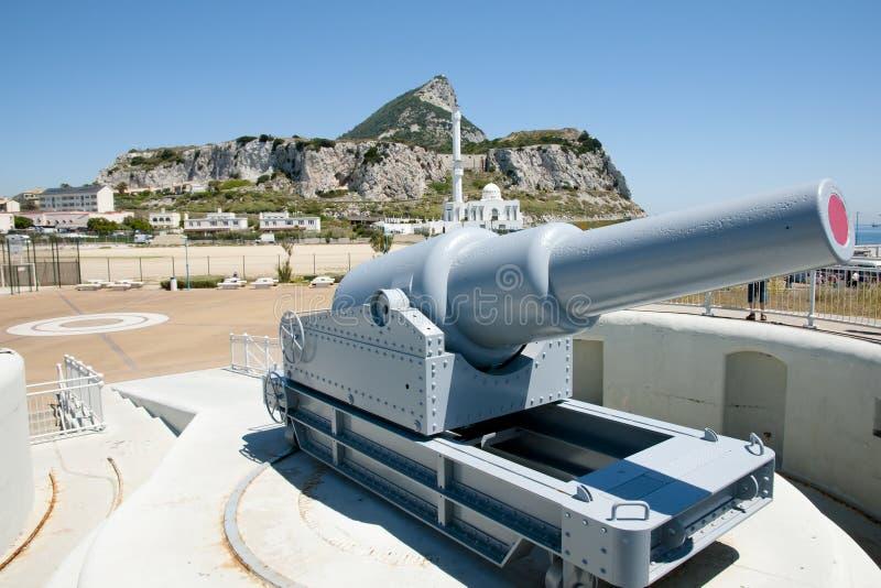 Europa-Punkt-Batterie - Gibraltar stockfoto