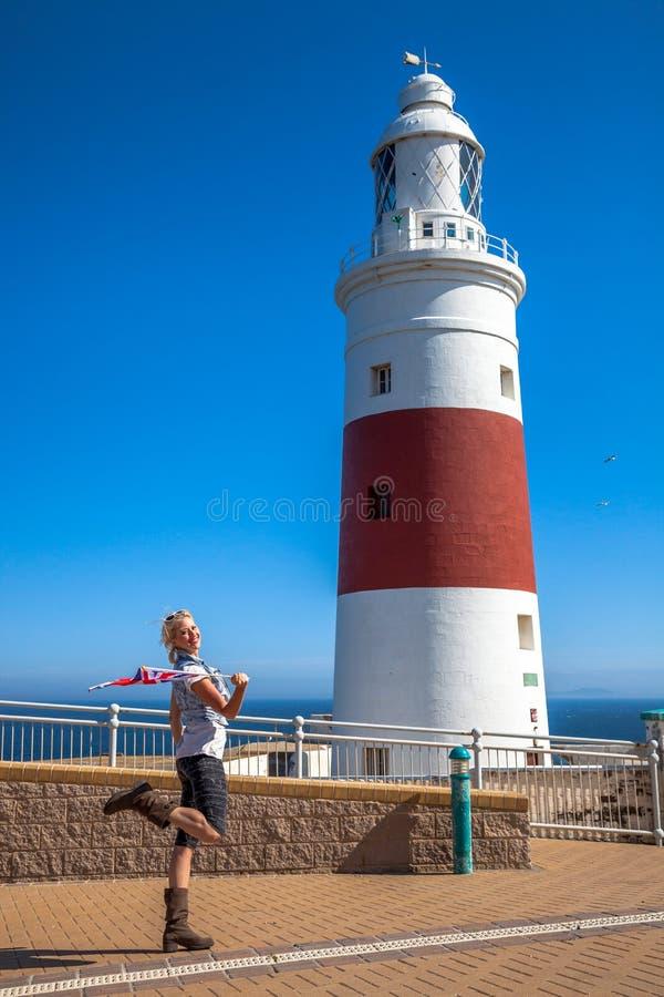 Europa punktu latarnia morska zdjęcie royalty free
