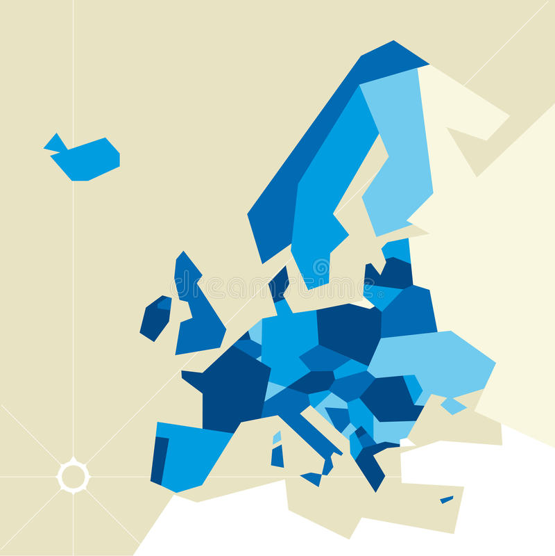 Europa restringió la correspondencia stock de ilustración