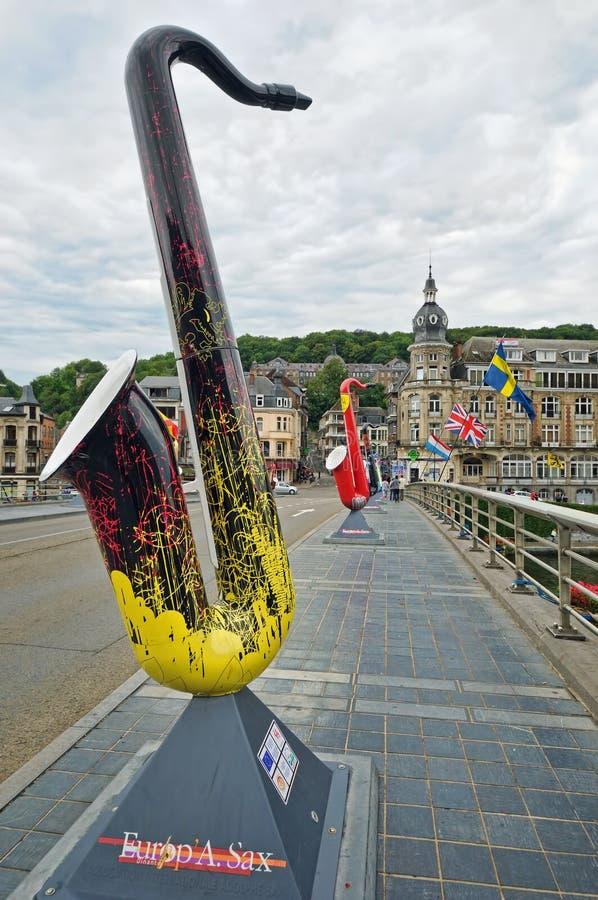 Europa-Saxophonmusikfestivals stockbild