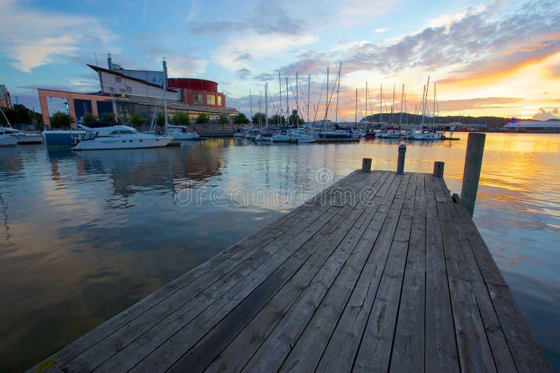 Europa, Scandinavië, Zweden, Gothenburg, Operahuis & Haven stock foto's
