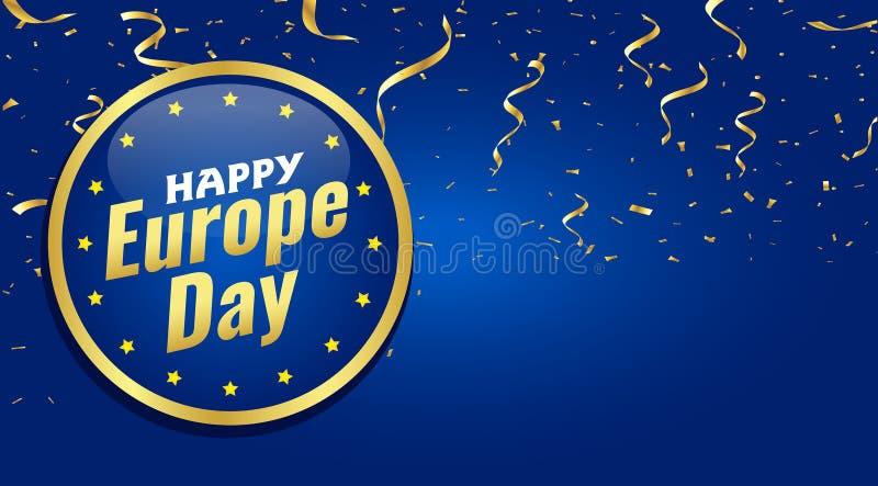 Europa-Tag J?hrlicher gesetzlicher Feiertag im Mai lizenzfreie abbildung