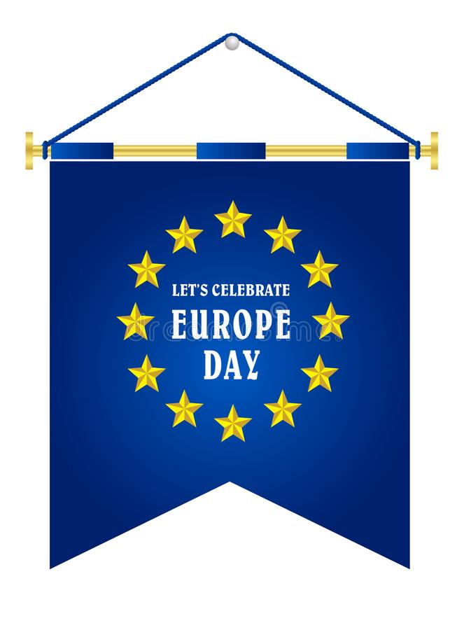 Europa-Tag J?hrlicher gesetzlicher Feiertag im Mai vektor abbildung