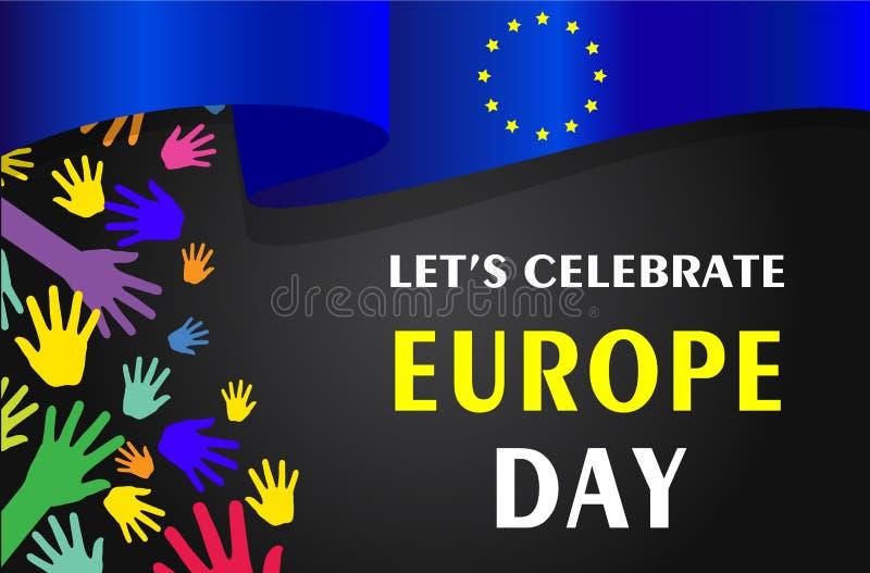 Europa-Tag J?hrlicher gesetzlicher Feiertag im Mai stock abbildung