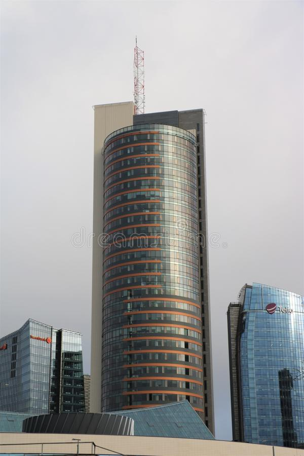 Europa Tower, Vilnius, Lithuania. The Europa Tower in Vilnius, the capital of Lithuania. With 148 meters, it is the tallest building in the Baltic states. It was stock images
