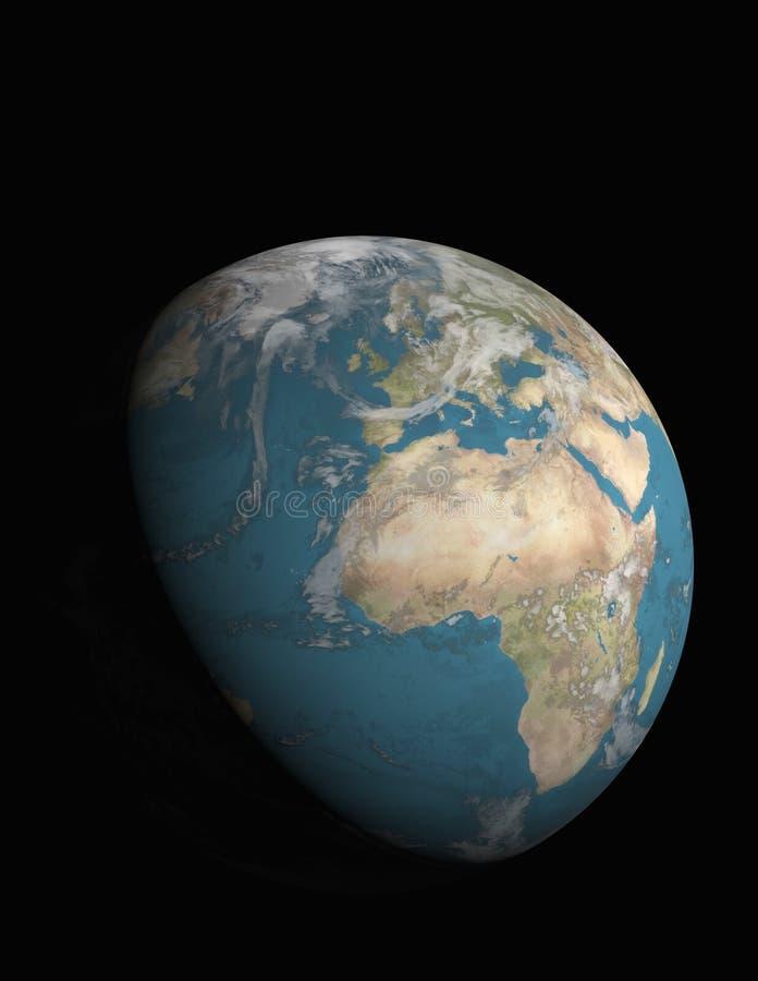 Europa und 3/4 belichtete Erde stock abbildung