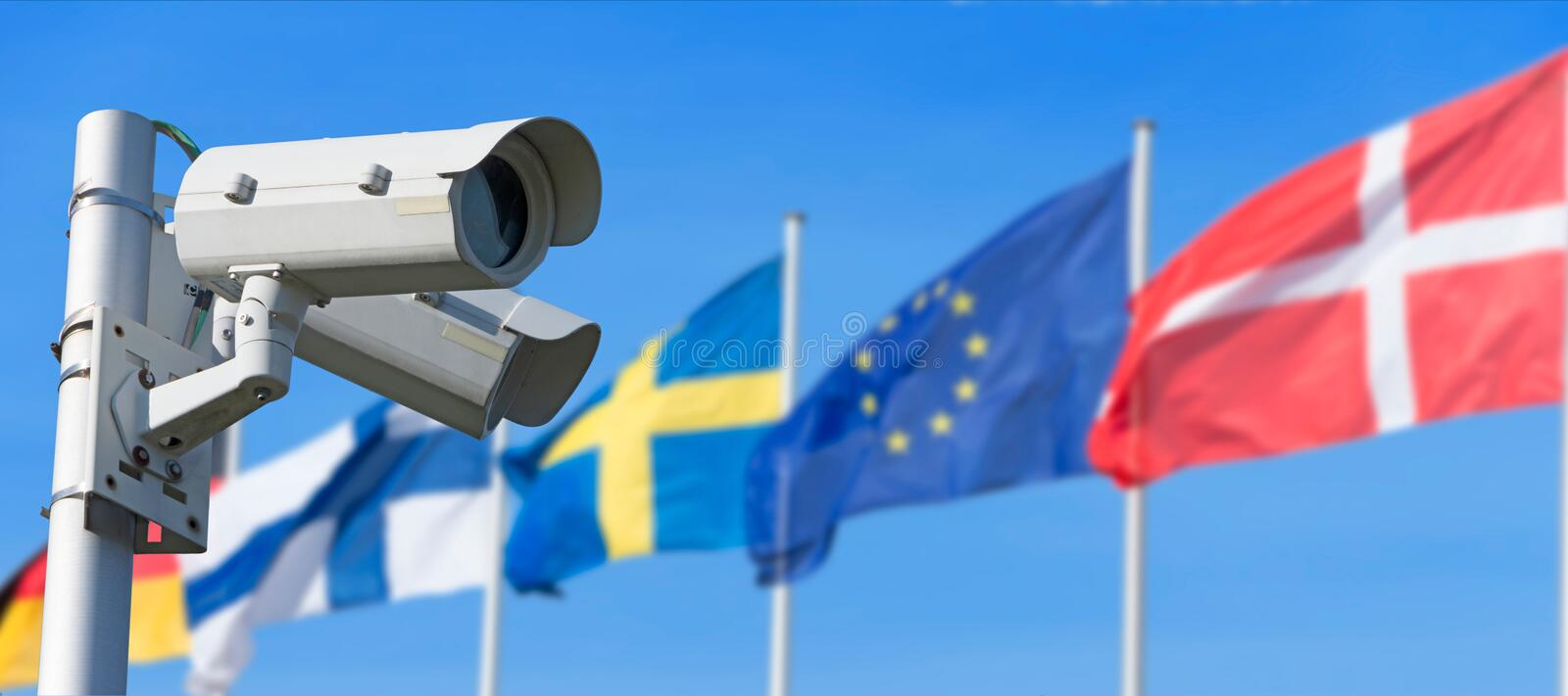 Europe and security stock images