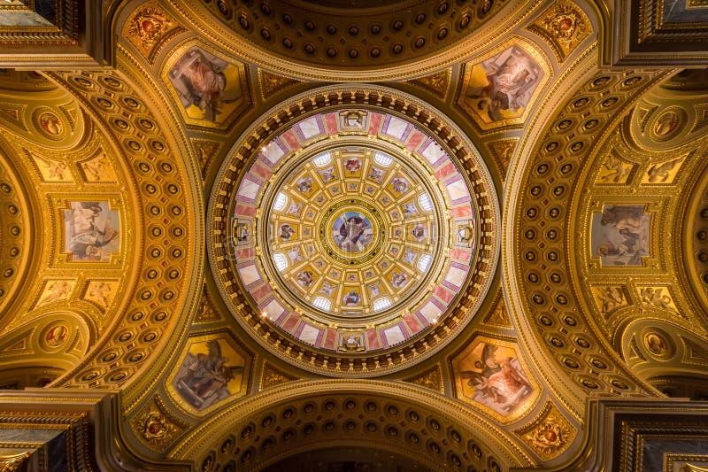 Europa, Ungern, Budapest, Cupola of St. ephen Basilica arkivbilder
