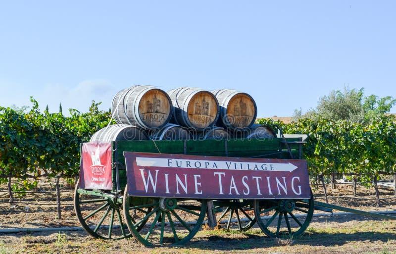 Europa Village Wine Tasting stock images