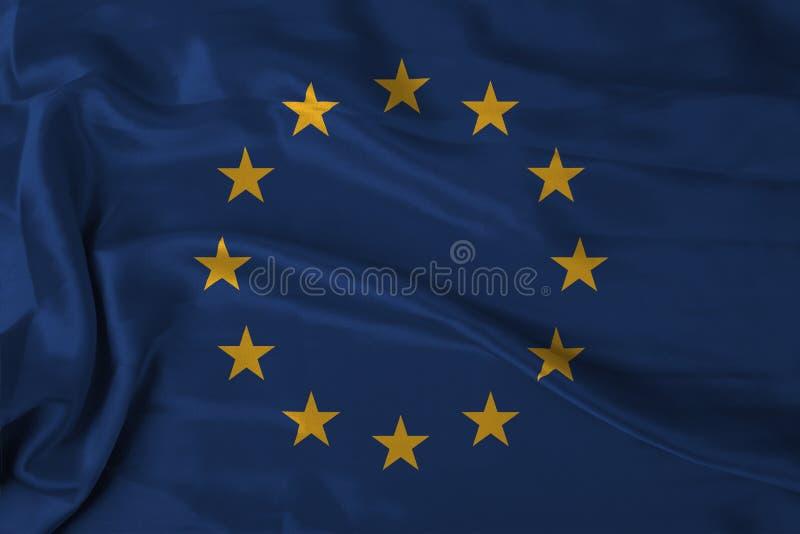 europaflagga stock illustrationer