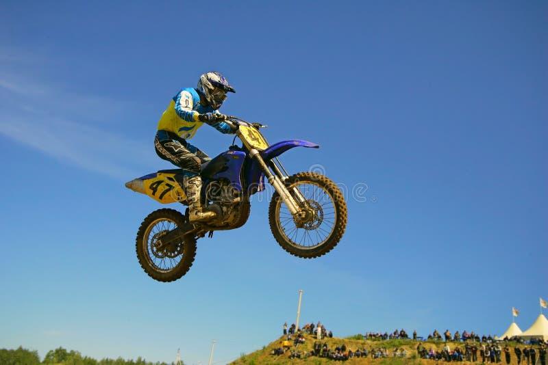 Europameisterschaftsmotocross in Yakhroma stockfotografie
