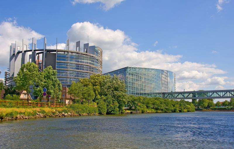 Europaparlamentet i Strasbourg - Frankrike royaltyfri bild