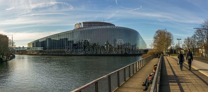 Europaparlamentet, Strasbourg arkivbild
