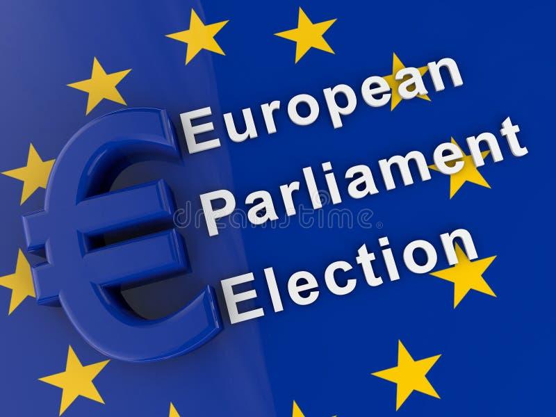 Europaparlamentetval vektor illustrationer