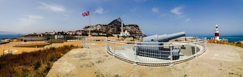 Europapunkt Gibraltar fotografering för bildbyråer