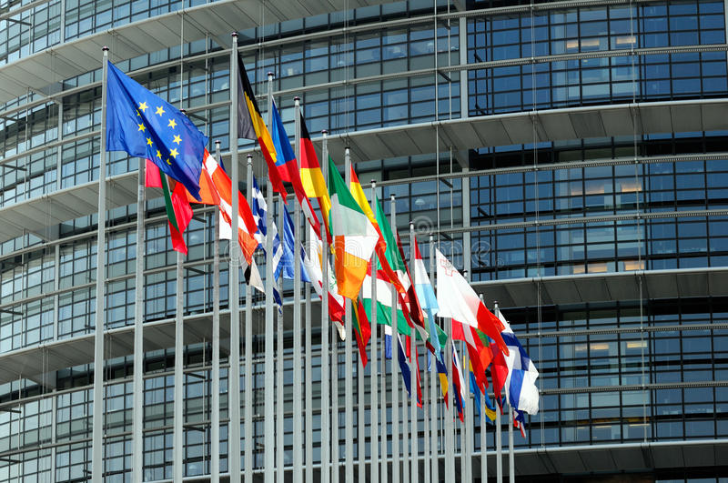 Download EuroParliament Flags In Strasbourg Stock Illustration - Image: 19677788