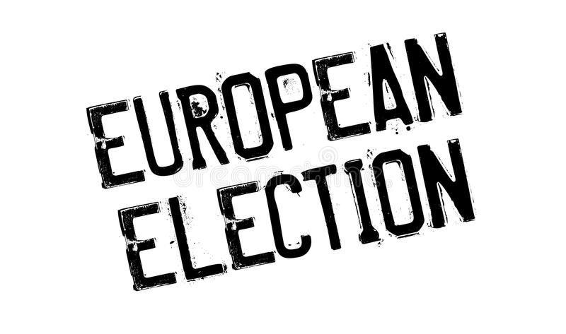 Europawahlstempel stockbilder