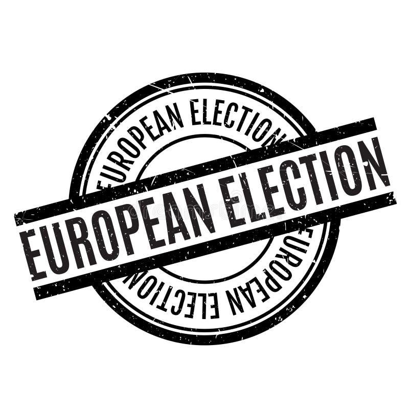 Europawahlstempel lizenzfreies stockfoto