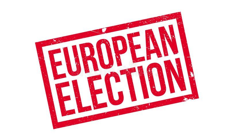 Europawahlstempel lizenzfreies stockbild